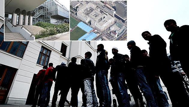 Gleich zwei neue Flüchtlingsquartiere für Wien (Bild: Google Maps, APA/HANS KLAUS TECHT, PETER TOMSCHI)