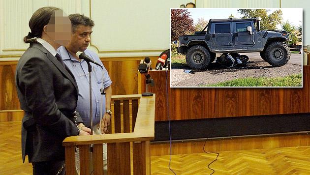 """""""Hummer""""-Fahrer starb infolge von Atemstillstand (Bild: APA/MTI/Zoltan Gergely Kelemen)"""