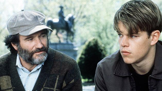 """Mit Robin Williams stand Matt Damon für """"Good Will Hunting"""" vor der Kamera. (Bild: George Kraychyk/EPA/picturedesk.com)"""