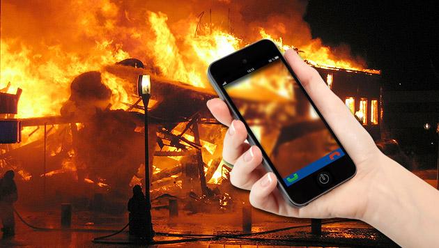 Bei Feuer wird das Handy vor dem Haustier gerettet