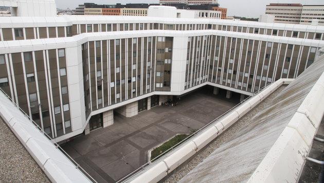 Der Innenhof des Flüchtlingsquartiers am Erdberg in Wien (Bild: ANDI SCHIEL)