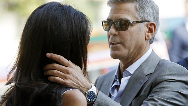 Romantische Blicke für Amal (Bild: AP)