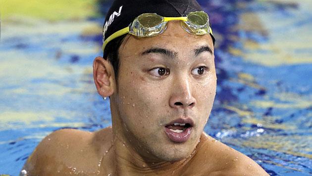 Naoya Tomita beim 100-m-Brust-Finale der Asien-Spiele 2014 (Bild: AP/Kyodo News)