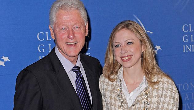 Chelsea Clinton brachte Tochter zur Welt (Bild: PETER FOLEY/EPA/picturedesk.com)