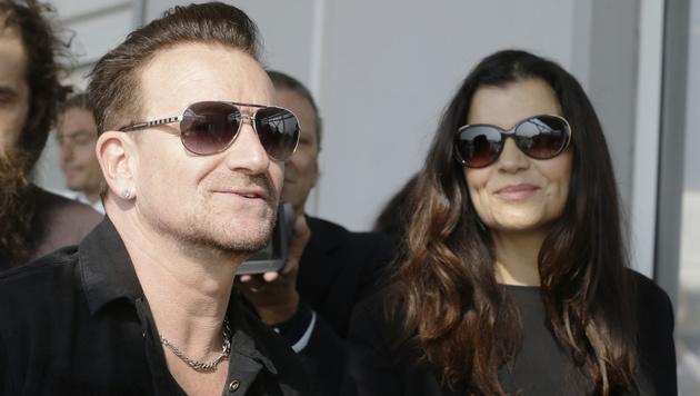 Bono Vox und seine Frau Alison Hewson (Bild: AP)