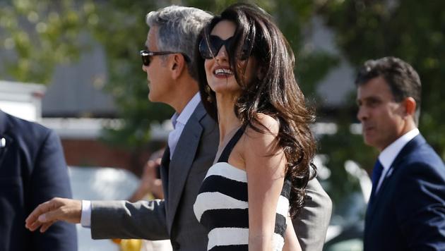 George Clooney polterte mit Tequila und Zigarren (Bild: AP)