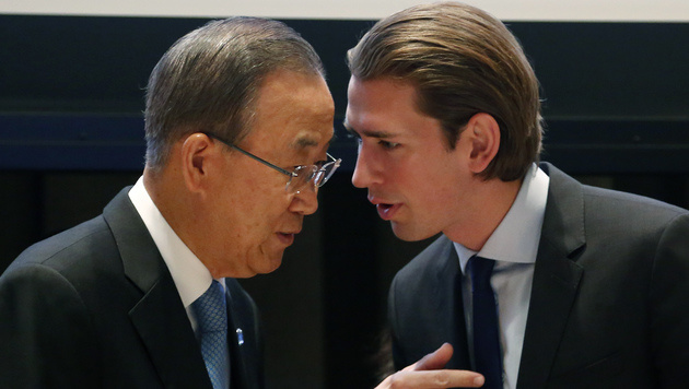 Sebastian Kurz mit UNO-Generalsekretär Ban Ki Moon (Bild: APA/BMEIA/DRAGAN TATIC)