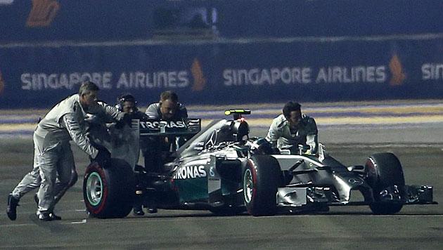 Rosberg-Aus: Wartungsmittel sorgte für Kurzschluss (Bild: APA/EPA/Diego Azubel)