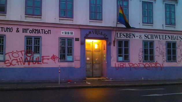"""Wien: Homophobe Morddrohung auf """"Rosa Lila Villa"""" (Bild: facebook.com/RosaLilaVilla)"""