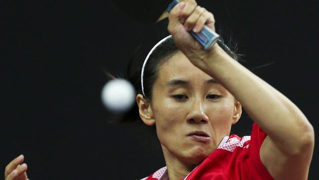 Silber für unsere Tischtennis-Ladys, 0:3 im Finale (Bild: APA/EPA/MIGUEL A. LOPES)