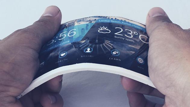 Flexibles Riesen-Handy zum Umschnallen vorgestellt (Bild: Arubixs)