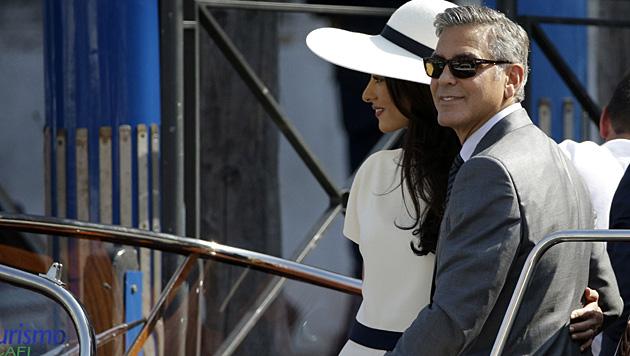 George Clooney und seine Amal (Bild: AP)