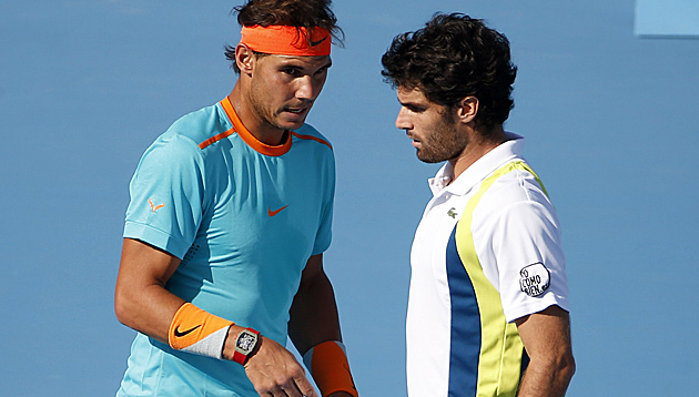 Nadal verliert Comeback-Match im Doppel (Bild: AP)