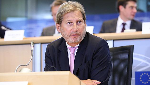 EU-Erweiterungskommissar Johannes Hahn (Bild: APA/EPA/JULIEN WARNAND)