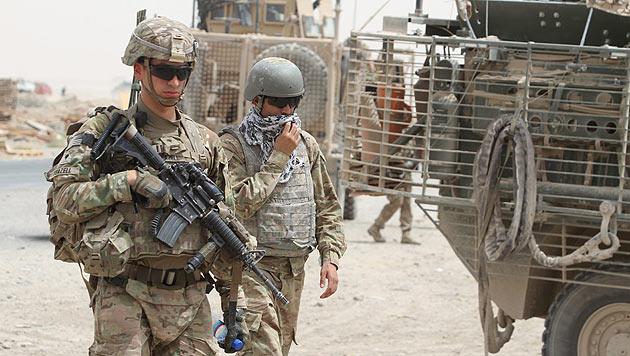US-Soldaten in der Nähe von Kandahar (Afghanistan) (Bild: SAMEEM ISMAIL/EPA/picturedesk.com)
