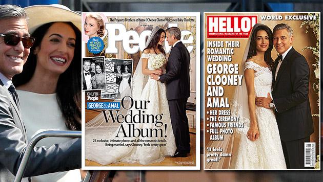 Die ersten Fotos des Brautpaares (Bild: APA/EPA/ALESSANDRO DI MEO, People, Hello)