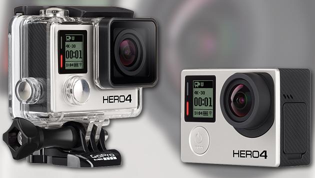 GoPro mit neuer Hero4-Serie und Einsteigermodell (Bild: GoPro, krone.at-Grafik)