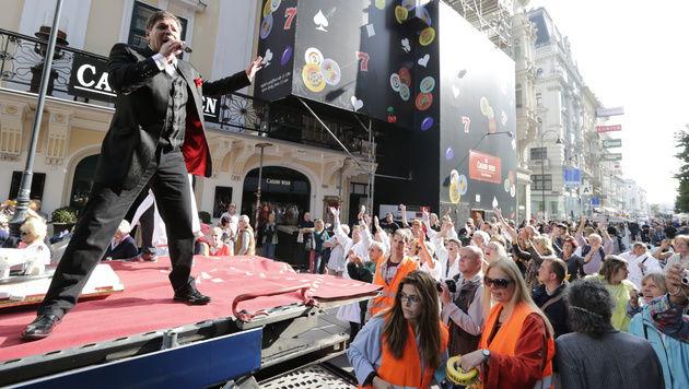 So lief die peinliche Parade der Udo-Jürgens-Fans (Bild: Klemens Groh)