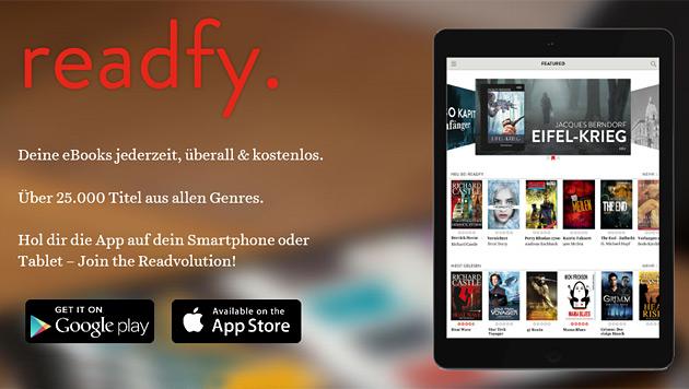 """""""readfy"""" bringt E-Books kostenlos aufs Smartphone (Bild: readfy.com)"""