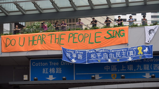 China spioniert Demonstranten in Hongkong aus (Bild: APA/EPA/JEROME FAVRE)