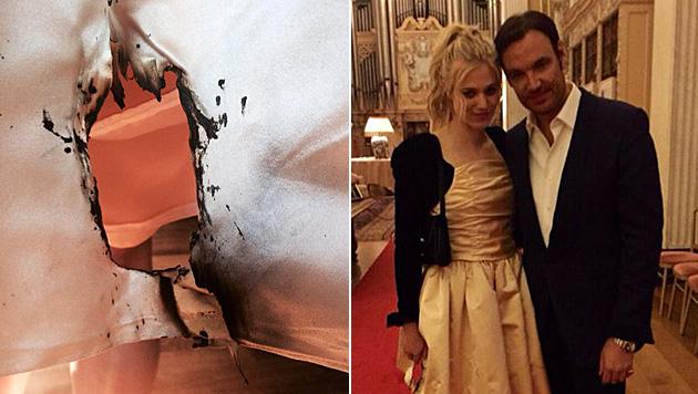Larissa Marolt hat sich in London den Popo verbrannt. (Bild: facebook.com/larissamarolt)