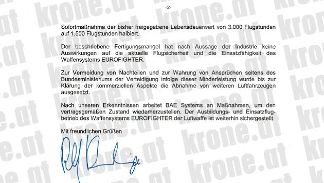Milliardenteure Eurofighter sind nur noch Schrott (Bild: Krone)
