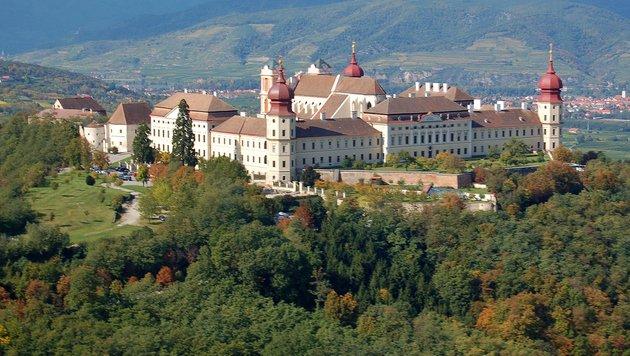 Das Benediktinerstift Göttweig in Niederösterreich (Bild: Benediktinerstift Göttweig, Luftbild von Arcomonte26)