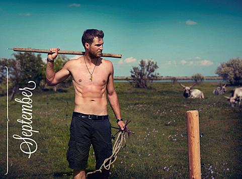 September: Martin aus dem Burgenland (Bild: Jungbauernkalender 2015/Julia Spicker)