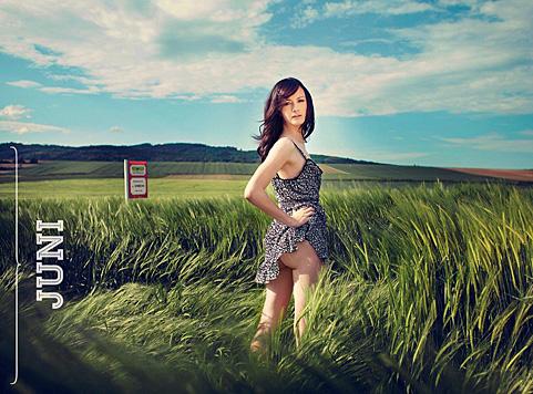 Juni: Anja aus der Steiermark (Bild: Jungbauernkalender 2015/Julia Spicker)