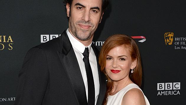 Sacha Baron Cohen und Isla Fisher bekamen ihr drittes Kind. (Bild: AFP)