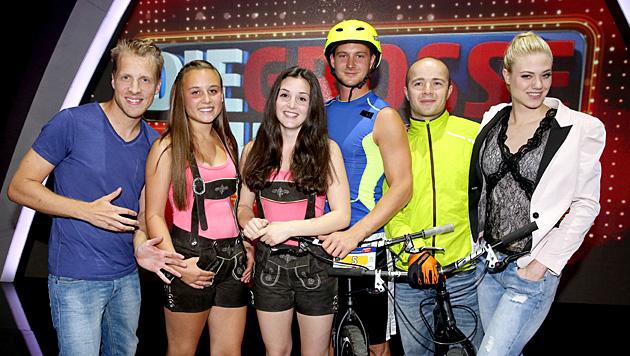 """""""Team Wahnsinn"""" mit Harfonie und Bike Trials Vienna (Bild: ORF/Milenko Badzic)"""