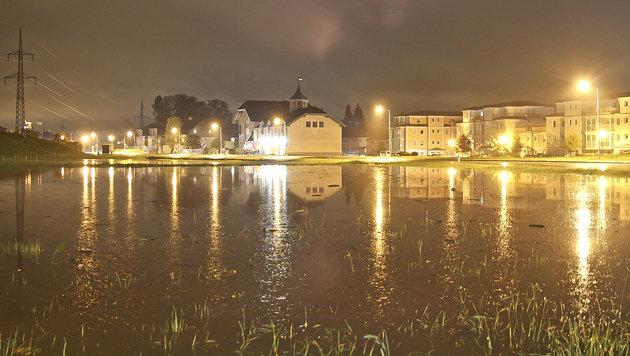 Überflutungen in Elsbethen (Bild: MARKUS TSCHEPP)