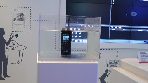 Dieses eLTE-Videofunkgerät empfängt Bilder von kabellosen Überwachungskameras oder aus der Zentrale. (Bild: Dominik Erlinger)