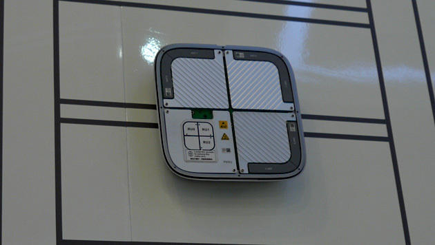 Besonders kleine LTE-Basisstationen wie diese werden beispielsweise in Einkaufszentren montiert. (Bild: Dominik Erlinger)