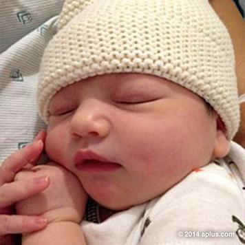 Oder schaut dieses Baby vielleicht Kutcher und Kunis ähnlich? (Bild: aplus.com)