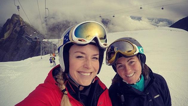 Lindsey Vonn: Ski-Comeback am Söldener Gletscher (Bild: Instagram/Lindsey Vonn)
