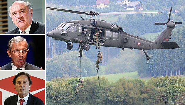Bundesheer: Länder-Aufstand gegen Klugs Sparpläne (Bild: APA/ROBERT JAEGER, dpa, APA/ERWIN SCHERIAU, APA/ FRANZ NEUMAYR)
