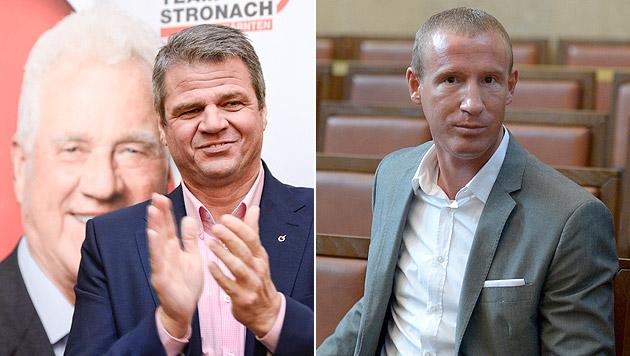 Das Kärnter Team Stronach engagiert Ex-BZÖler Stefan Petzner als Berater. (Bild: APA/HERBERT NEUBAUER, APA/ROLAND SCHLAGER)