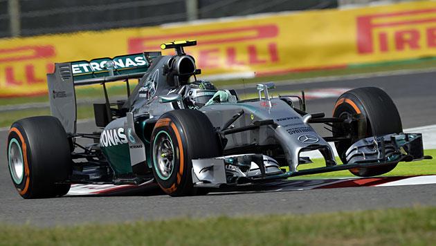 Rosberg holt sich Poleposition für GP von Japan (Bild: APA/EPA/Franck Robichon)