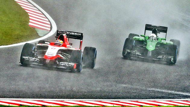 Jules Bianchi (Marussia, l.),  Marcus Ericsson (Caterham, r.) (Bild: APA/EPA)