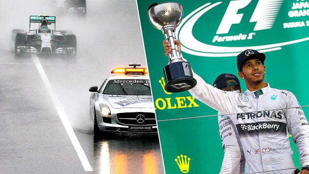 Hamilton gewinnt Japan-Grand-Prix vor Rosberg (Bild: APA/EPA/Srdjan Suki, AP)
