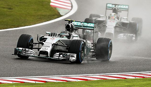 Hamilton gewinnt Japan-Grand-Prix vor Rosberg (Bild: APA/EPA/Srdjan Suki)