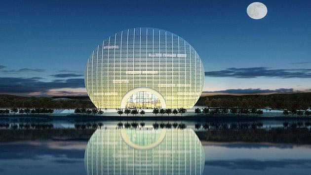 "Dieses ""Kugel-Hotel"" verzaubert China (Bild: kempinski.com)"