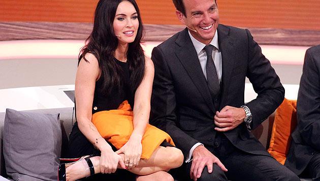 """Megan Fox und Will Arnett gehörten zu den Stargästen der vorletzten """"Wetten, dass..?""""-Sendung. (Bild: EPA)"""