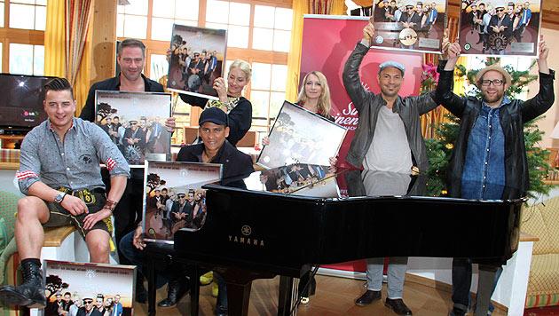 Die Stars: A. Gabalier, Sasha, X. Naidoo, S. Connor, S. Nasic und R. Cicero (v. li.) (Bild: Recka Hammann)