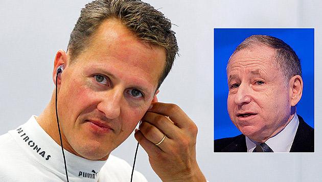 """Jean Todt: """"Schumachers Zustand verbessert sich"""" (Bild: APA/EPA/TOBIAS HASE, APA/EPA/DIEGO AZUBEL)"""