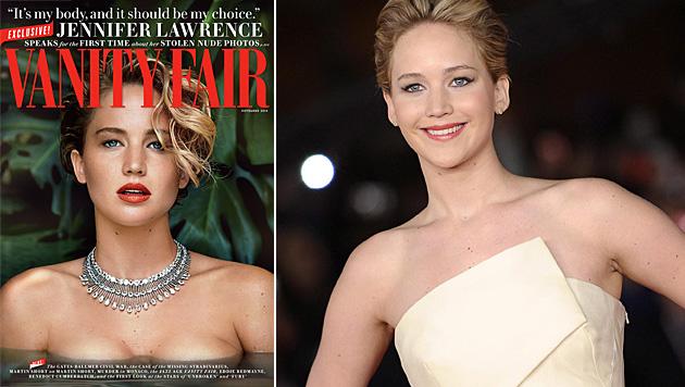 Jennifer Lawrence setzt sich gegen Nacktfoto-Klau zur Wehr. (Bild: Vanity Fair, EPA)
