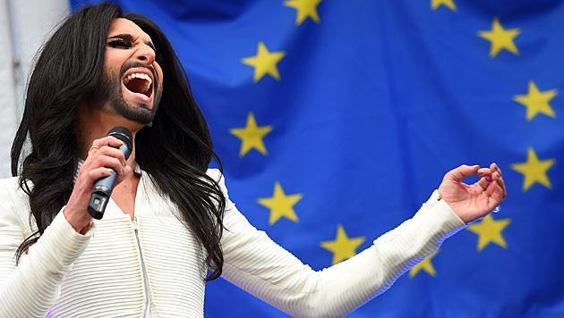 Conchita bei ihrem Konzert in Brüssel (Bild: AFP)