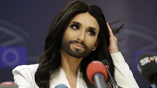 Auch von den Politikern forderte Conchita mehr Einsatz in Sachen Toleranz. (Bild: AFP)