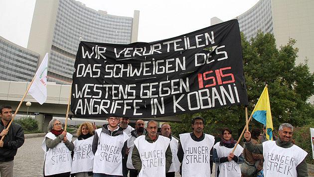 IS-Protest: Wiener Kurden kündigen Hungerstreik an (Bild: Andreas Schiel)
